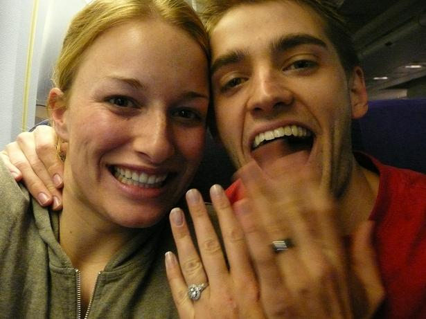 On the plane YEAH WERE MARRIED!!